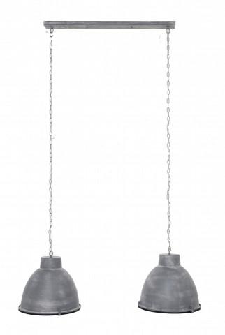 Lustra din metal gri inchis, 2 becuri, 125 x 150 cm