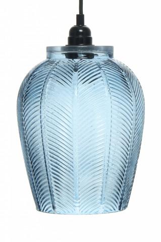 Lustra din sticla Bianca albastra, un bec