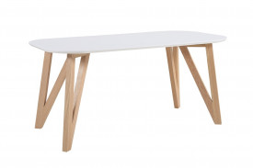 Masa ovala din lemn 120x80x76 cm maro/alb