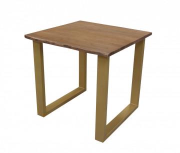 Masa patrata cu blat din lemn de salcam Tables&Benches 80x80x76 cm maro