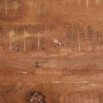 Masa rotunda cu blat din lemn de mango 130x130x78 cm maro/negru