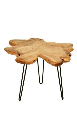 Masuta de cafea cu forma neregulata din cedru Woody 60x50x52 cm maro