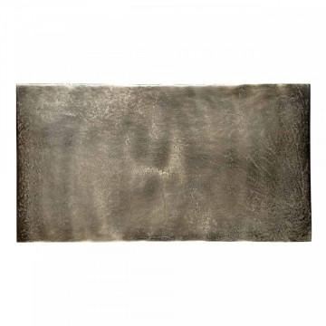 Masuta de cafea dreptunghiulara din metal Calloway 54x29x54 cm aurie