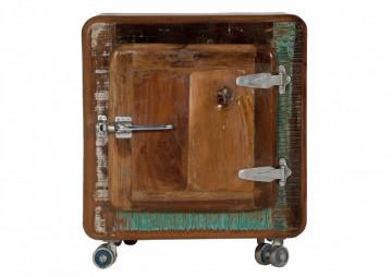 Noptiera din lemn reciclat Fridge 50 x 38 x 56 cm