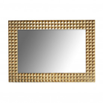 Oglinda dreptunghiulara cu rama aurie Caster, 71 x 51 x 5 cm