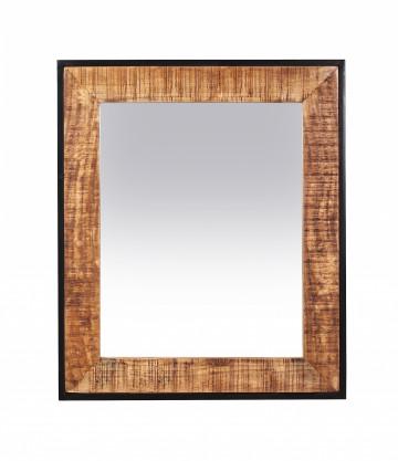 Oglinda dreptunghiulara cu rama din lemn de mango Sidney 63x79x3 cm