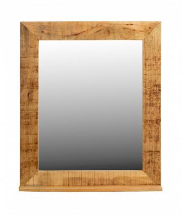 Oglinda dreptunghiulara cu rama din lemn lacuit RUSTIC, 67 x 12 x 80 cm