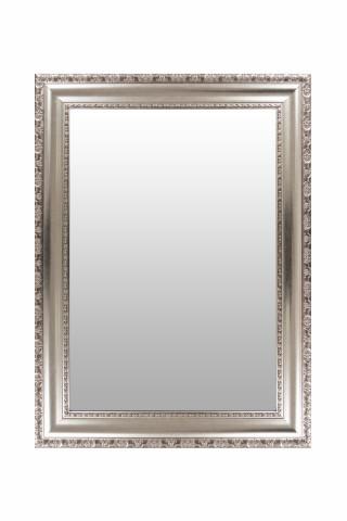 Oglinda dreptunghiulara cu rama din polistiren argintie Sirius, 78,7cm (L) x 58,7cm (L) x 3cm (H)