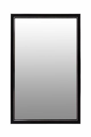 Oglinda dreptunghiulara cu rama din polistiren neagra/argintie Cliff, 56cm (L) x 36cm (W) x 1.6cm (H )