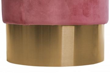 Puf/ Taburet tapitat Nano roz ignifug