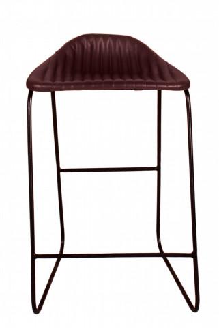Scaun de bar din imitație de piele Sit&Chairs maro închis