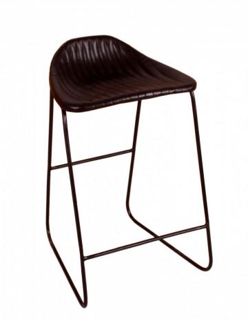 Scaun de bar din imitație de piele Sit&Chairs negru