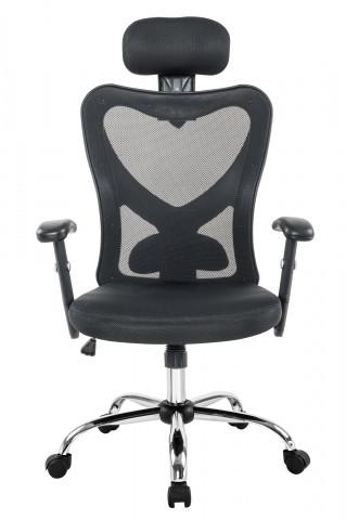 Scaun de birou rotativ din imitatie de piele gri inchis