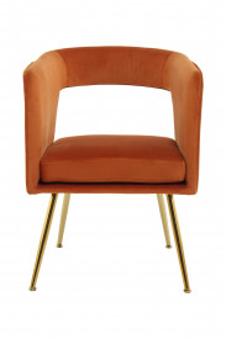 Scaun tapitat Jolene portocaliu