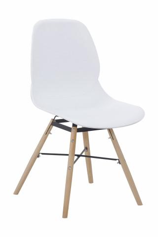Set 2 scaune Amy albe
