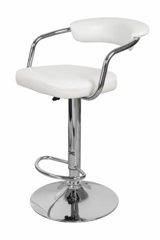Set 2 scaune de bar din piele sintetică Midnight albe