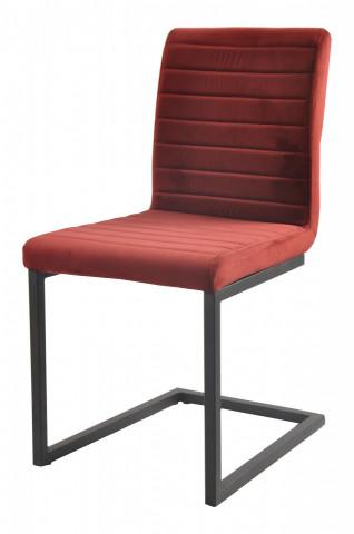 Set 2 scaune din catifea Sit&Chairs rosii
