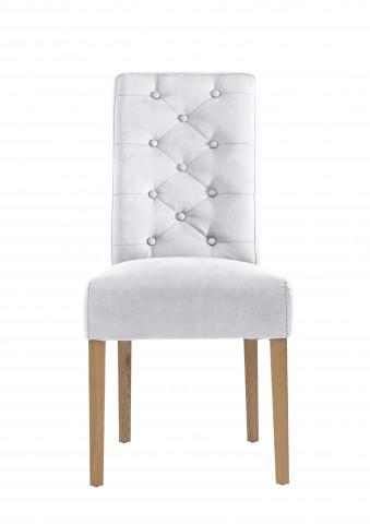 Set 2 scaune din piele Sit&Chairs albe