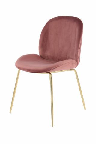 Set 2 scaune tapitate Charlize roz
