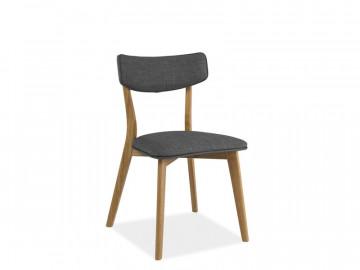 Set 2 scaune tapitate cu cadru de lemn Karl gri/maro