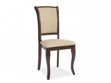 Set 2 scaune tapitate cu cadru din lemn bej/maro
