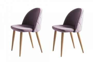 Set 2 scaune tapitate Kjell roz