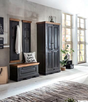 Set 4 piese mobilier din lemn de mango/MDF Corsica