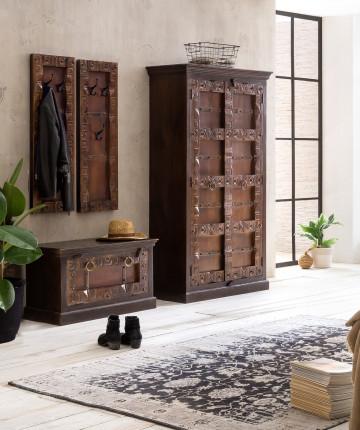 Set 4 piese mobilier pentru hol din lemn Almirah