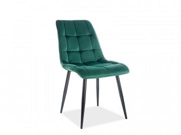 Set 4 scaune din catifea Chic verde / negru