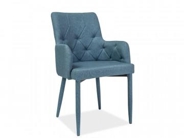 Set 4 scaune din catifea Ricardo albastru deschis