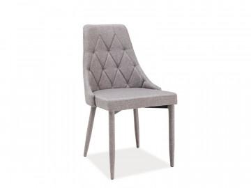 Set 4 scaune din catifea Trix gri deschis