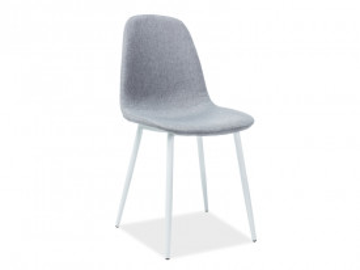 Set 4 scaune tapitate Fox gri/alb