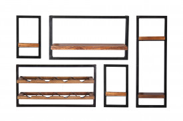 Set 5 etajere din lemn de mango Panama