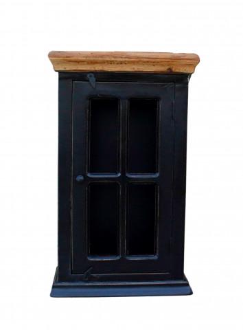 Set 5 piese mobilier pentru baie din lemn de mango si MDF Corsica negru
