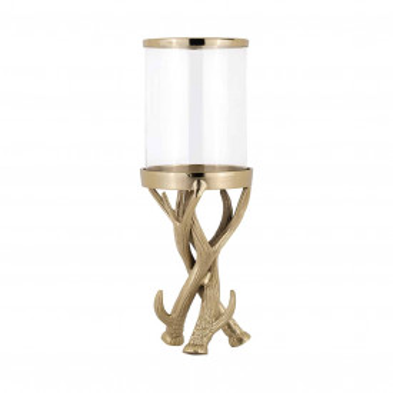 Suport lumanare din sticla Avius, gold