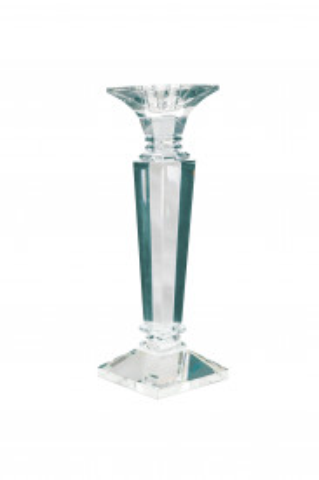 Suport lumanare din sticla de cristal Violetta I, transparent