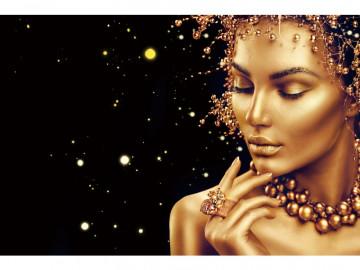 Tablou din sticla Golden Face 120 x 80 cm