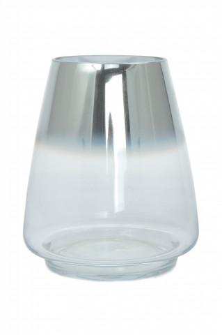 Vază de sticlă Saigon, argintie