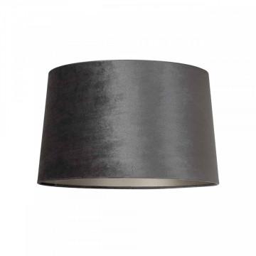 ABAJUR cilindric din bumbac Emily velvet graphite, diametru 35 cm