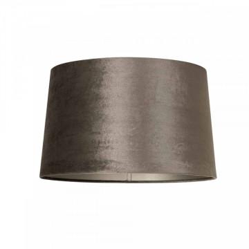 ABAJUR cilindric din polyester Jaylinn velvet taupe, diametru 35 cm