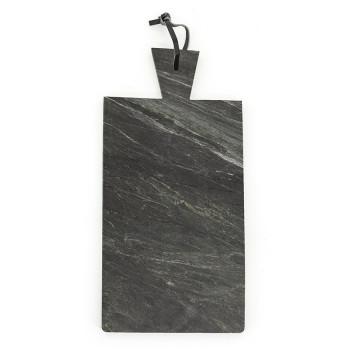 Blat pentru servire dreptunghiular din marmura CB1, negru, 20x43 cm
