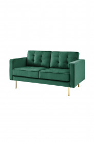 Canapea Bohemian verde, 2 locuri