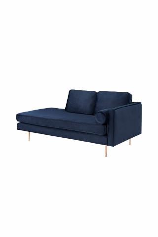 Canapea Estelle albastru, 3 locuri,pe dreapta