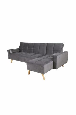 Canapea Maloni extensibila pe dreapta, 3 locuri, gri