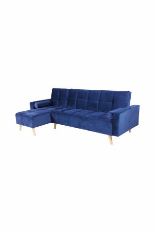 Canapea Maloni extensibila pe stânga, 3 locuri, albastru