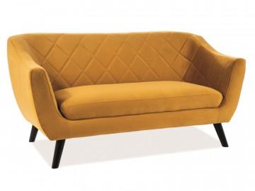 Canapea Molly galben mustar, 3 locuri