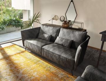 Canapea tapitata SIT4SOFA antracit, 3 locuri