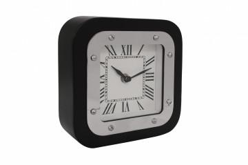 Ceas de masă Moments 5x17x17 cm argintiu / negru