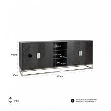 Comoda Blackbone silver 4-usi
