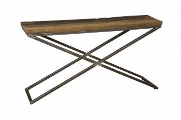 Consola din lemn 112x37x82 cm maro/negru